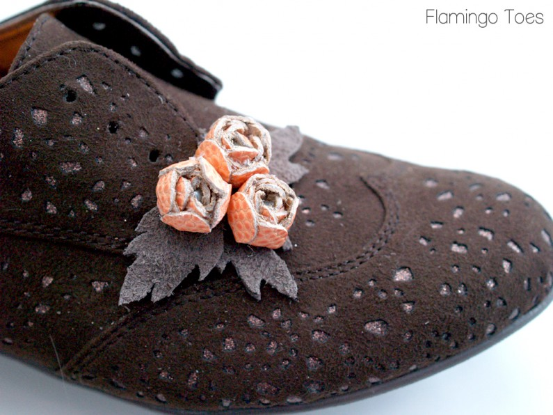 Leather Roses on Shoes