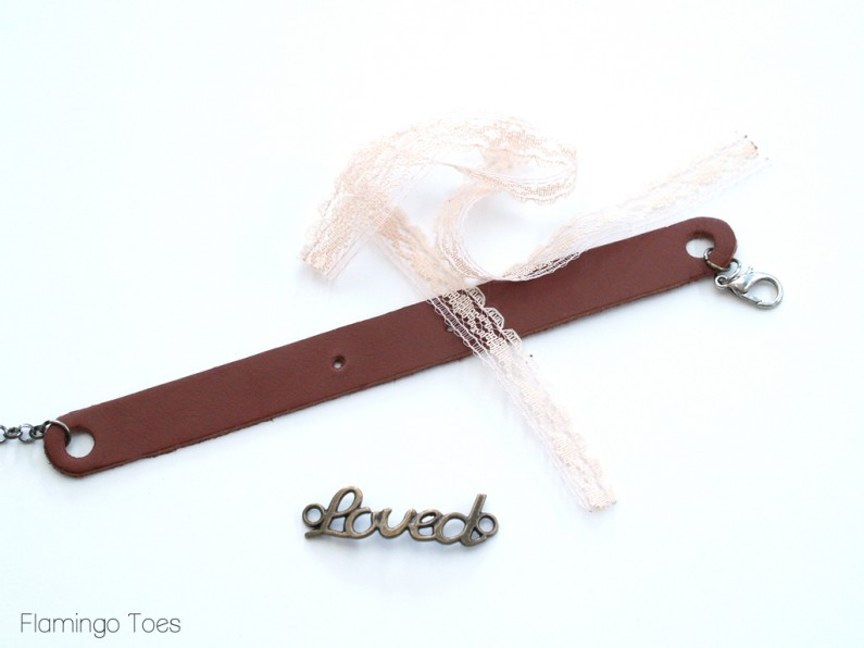 Making a Lace and Leather Bracelet