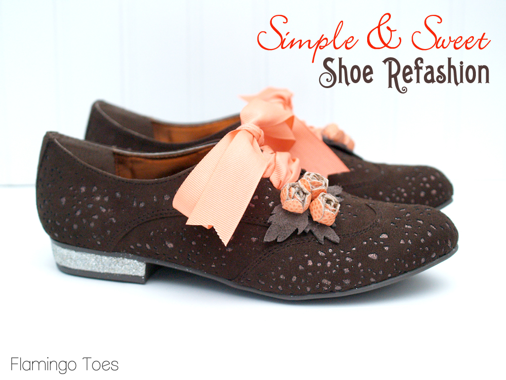 Simple & Sweet Shoe Refashion