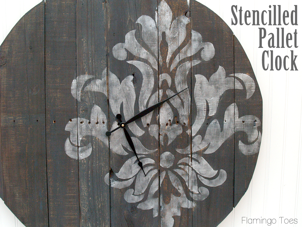 Large Stencilled Pallet Clock Tutorial