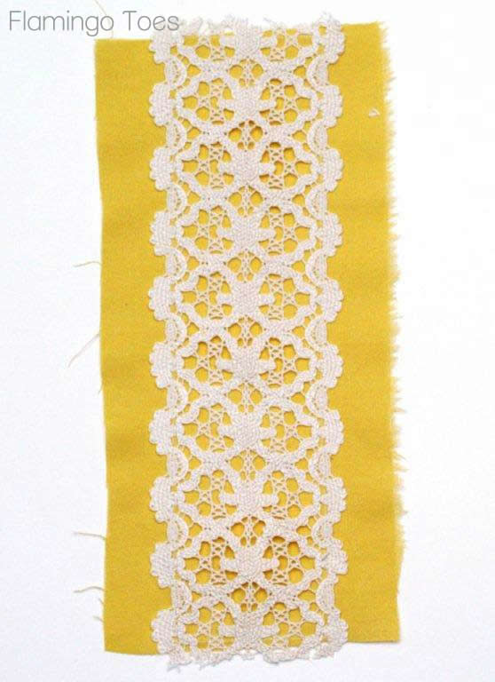 Adding Lace to Linen