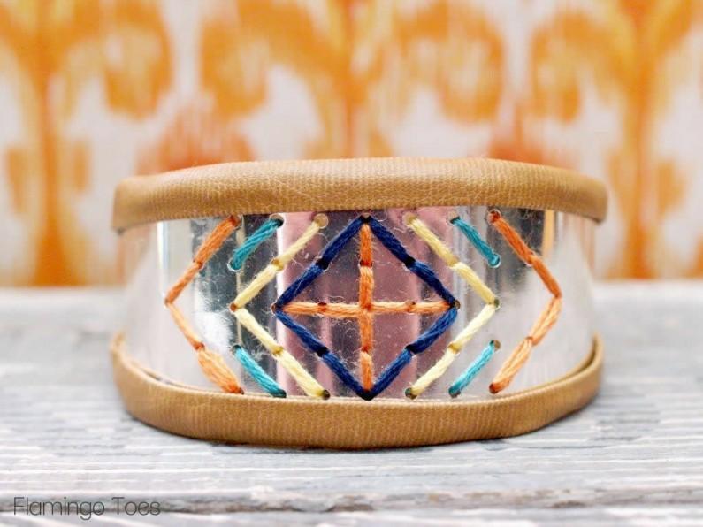 Bracelet with Stitching