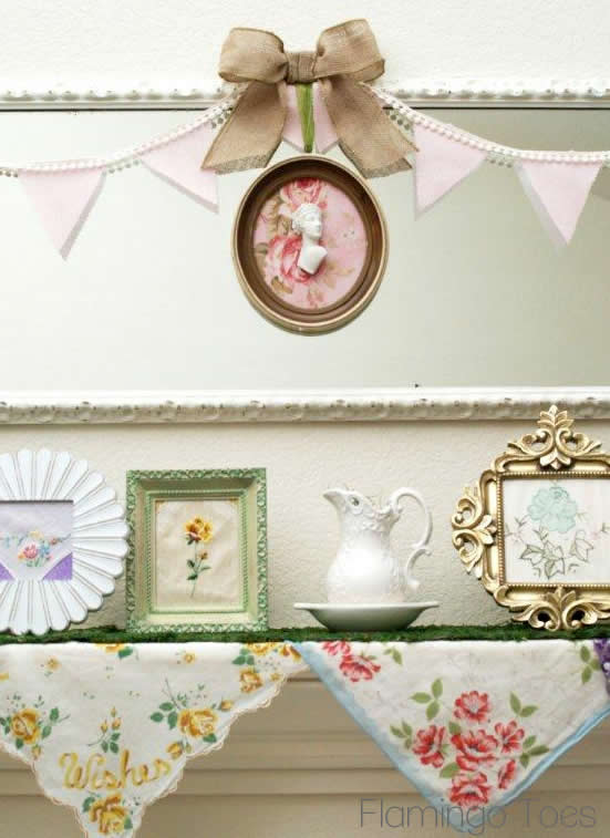 Cameo and Pennants for Mantel