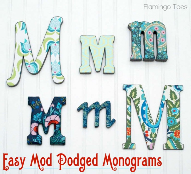 Easy Mod Podged Monograms
