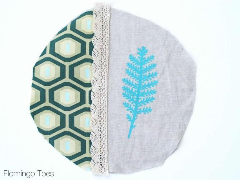 Fabric and Linen Hoop Art