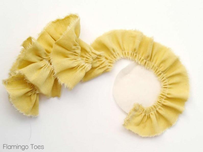 Gluing Flower Ruffles
