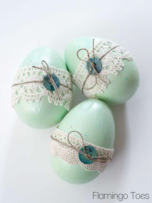 Mint Painted Easter Eggs