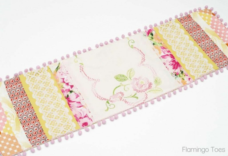 Pieced Vintage Linen Runner