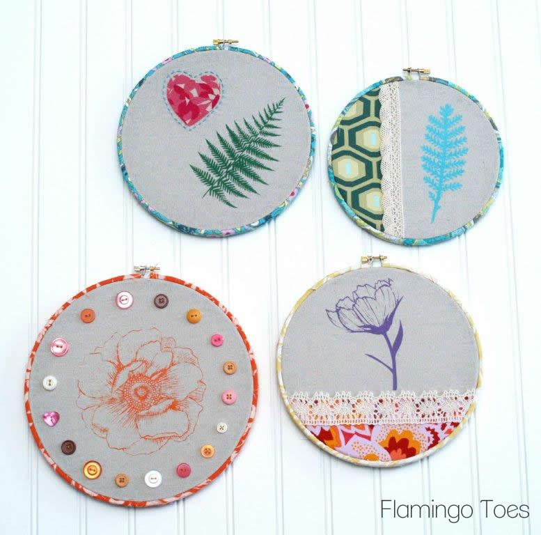 Pretty Embroidery Hoop Art