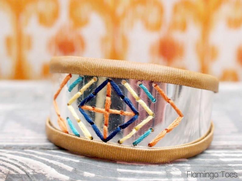 Sewn Metal Bracelet