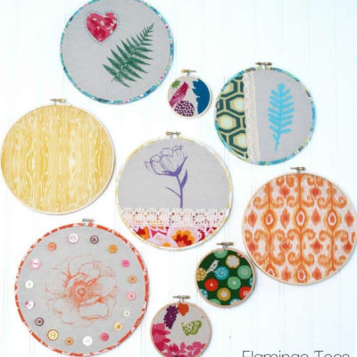 Spring Hoop Art with Plaid Supplies