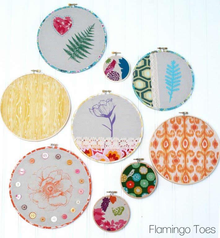 Spring Embroidery Hoop Art
