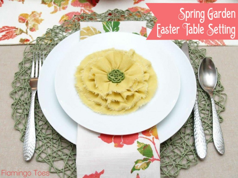 Spring Garden Easter Table Setting