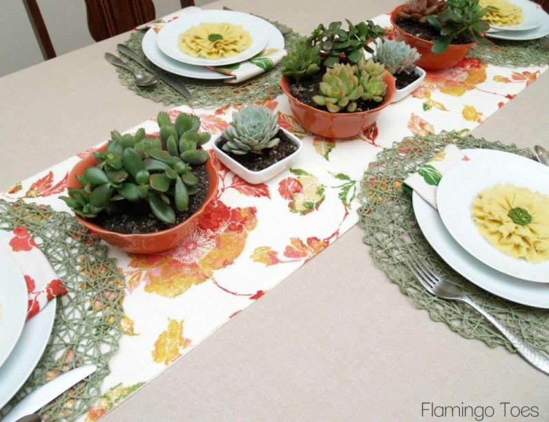 Spring Table Succulents
