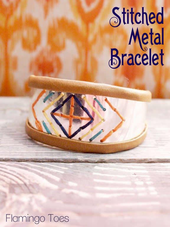 Southwest Stitched Metal Bracelet