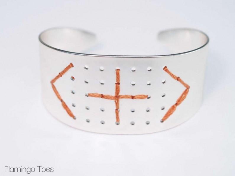 Stitching a Metal Bracelet