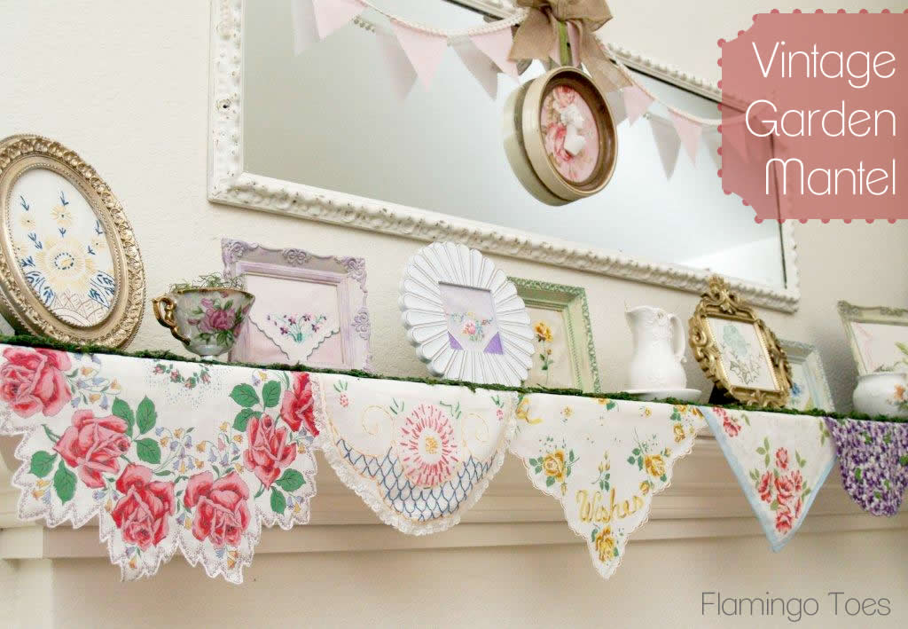 Vintage Garden Mantel for Spring