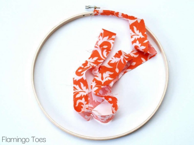 Wrapping fabric around Embroidery Hoops