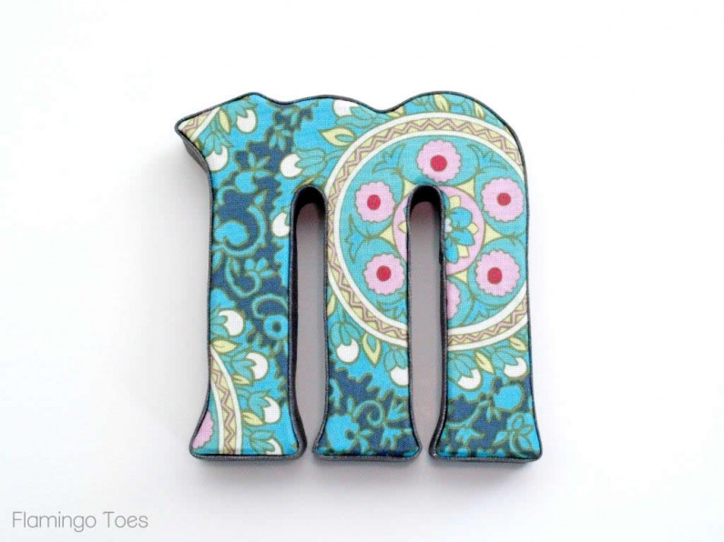 fabric covered monogram
