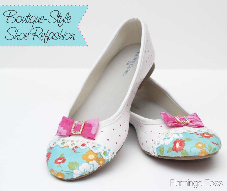 Boutique Style Flats – Shoe Refashion