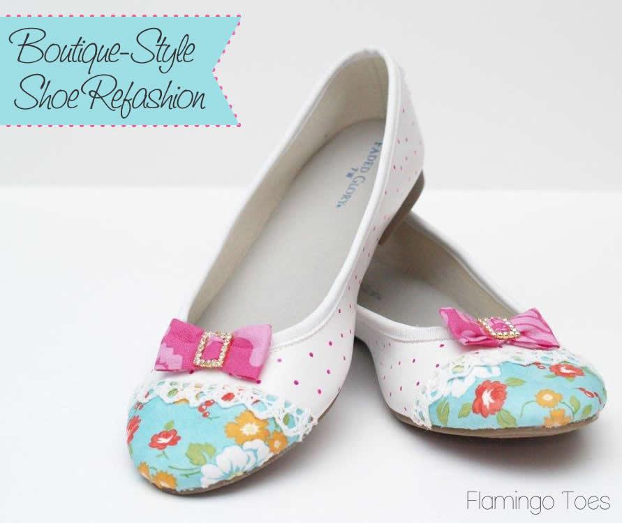 Boutique Style Flats – Shoe Refashion