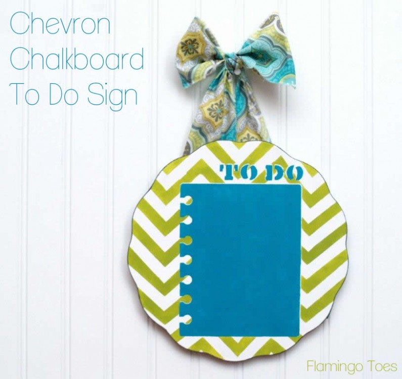 Chevron Chalkboard To Do Sign