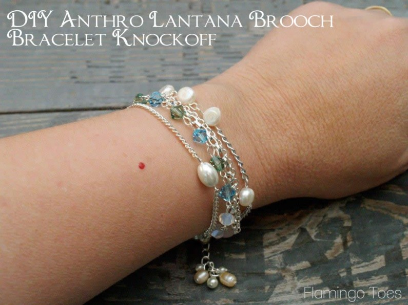 DIY Anthro Lantana Brooch Bracelet Knockoff