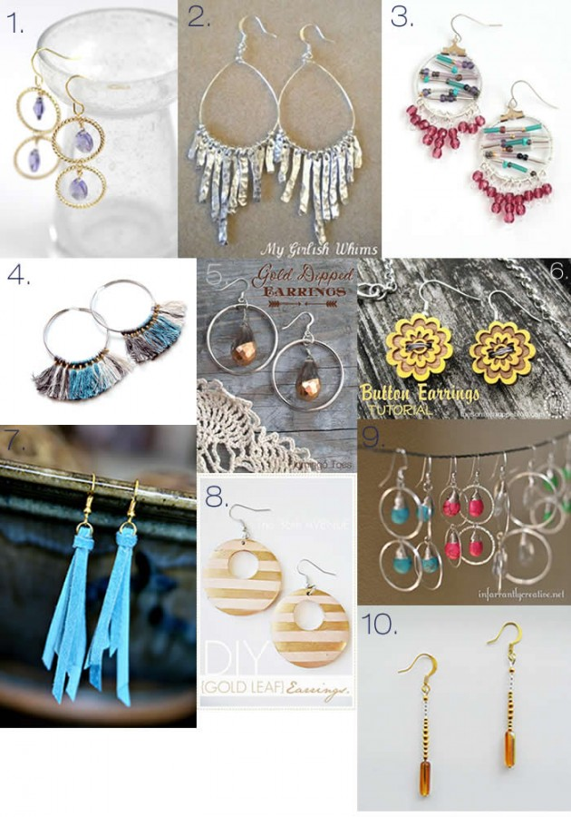 DIY Earring Tutorials