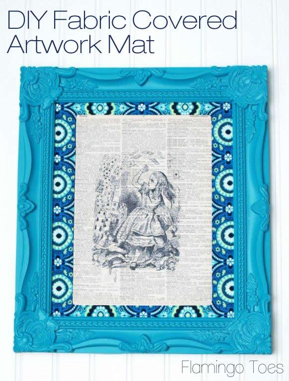 DIY Fabric Covered Artwork Mat