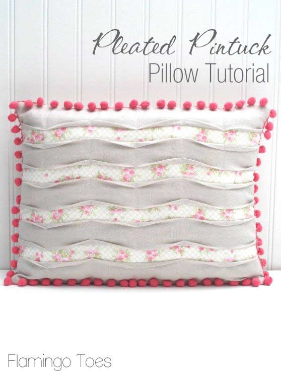 Pretty Pleated Pintuck Pillow