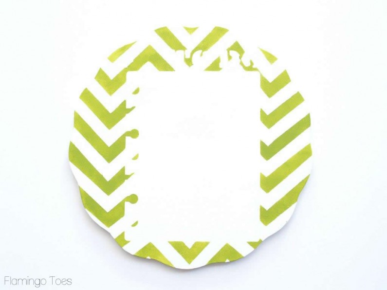 Painted Chevron Plaque