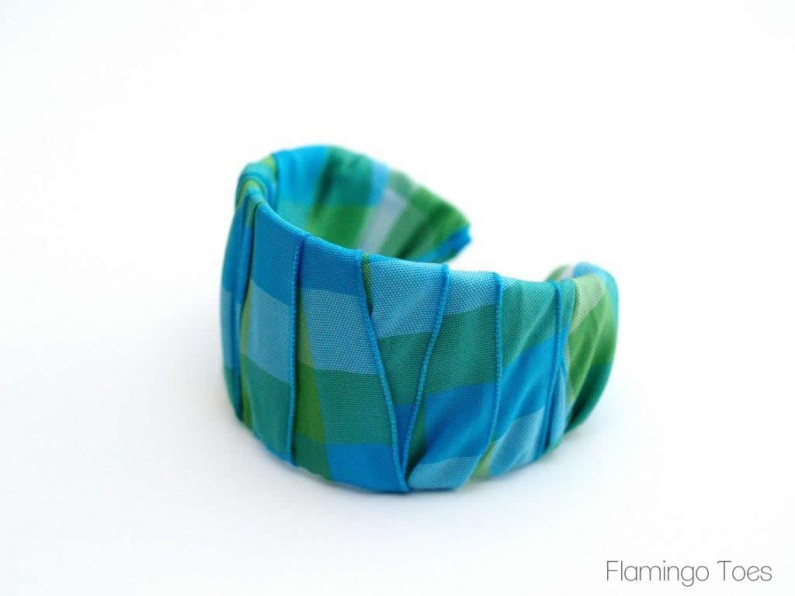Ribbon wrapped bracelet