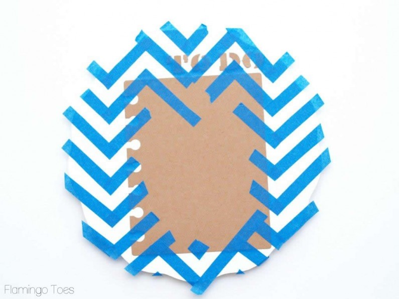 Taped Chevron Stencil