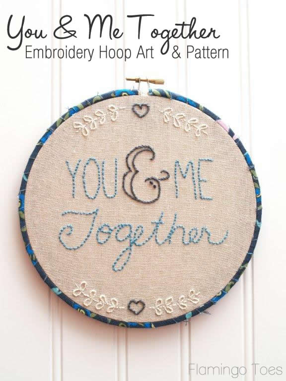 You & Me Together Hoop Art