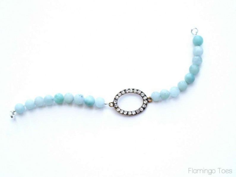 Rhinestone and Bead Bracelet Tutorial - perfect for mom on Mother's Day!