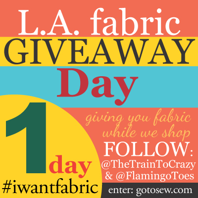 I Want Fabric – giveaway day!