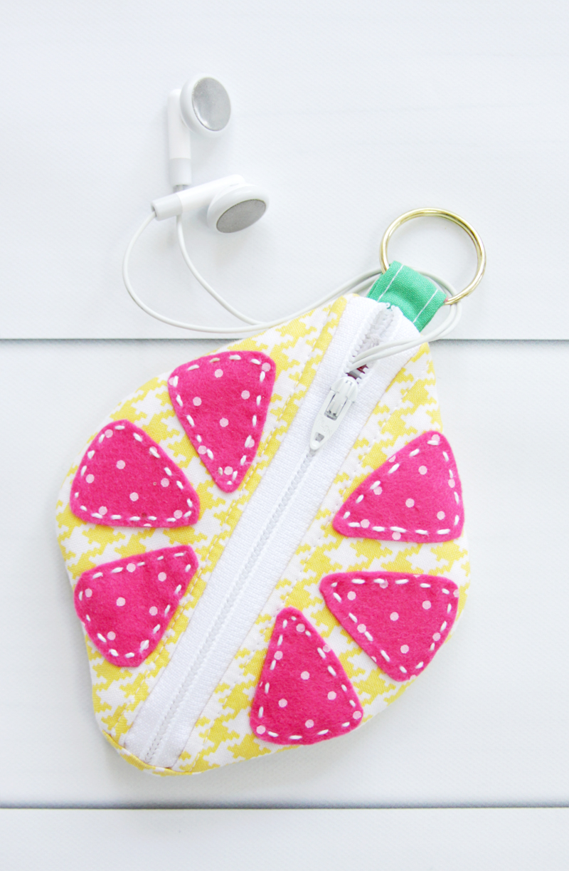 DIY Citrus Zipper Pouch