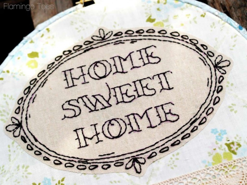 love this fun little Home Sweet Home stitching. It reminds me of an