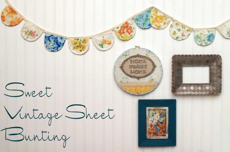 Sweet Vintage Sheet Bunting