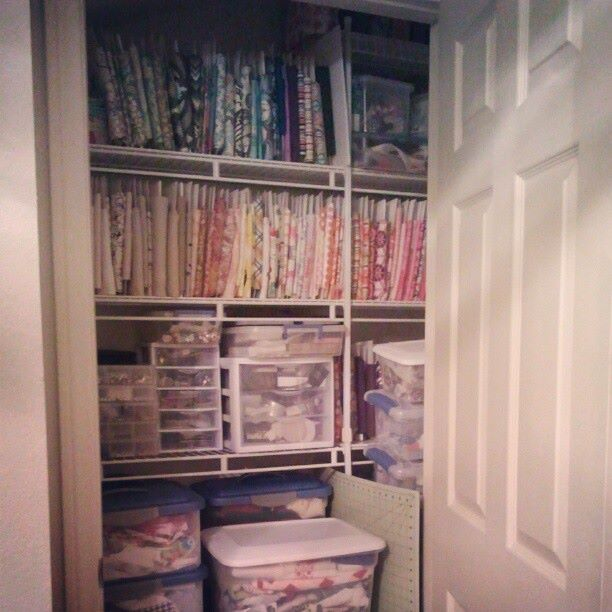 organized craft closet