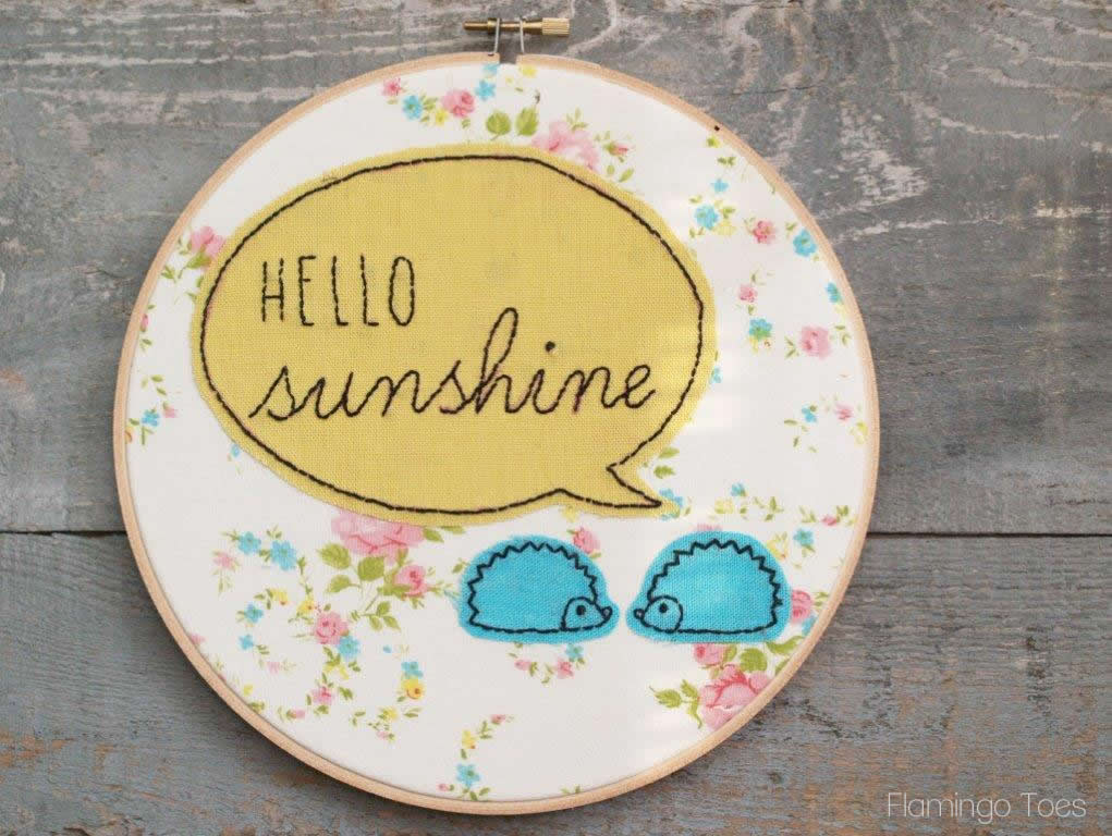 Hello Sunshine Embroidery