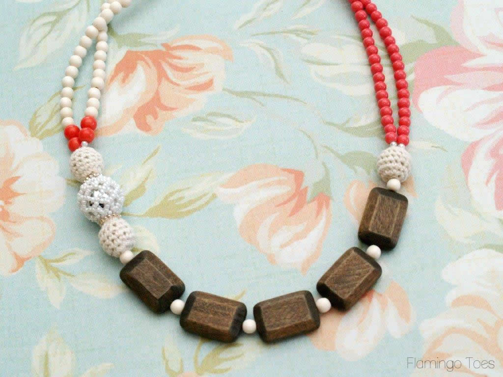 DIY Chunky Beaded Statement Necklace