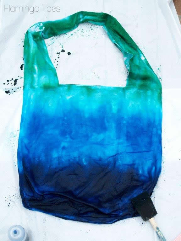 dyeing tote bag