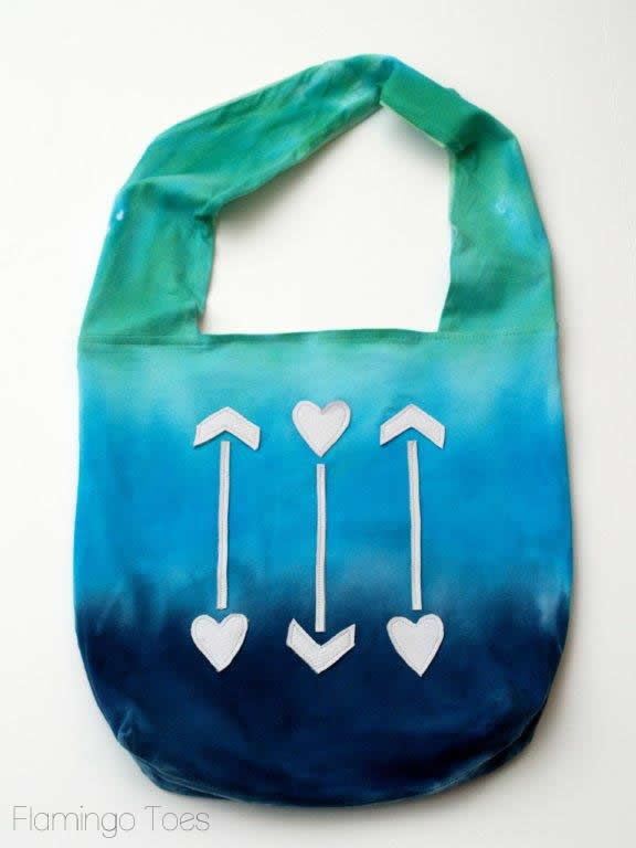 ombre dyed bag