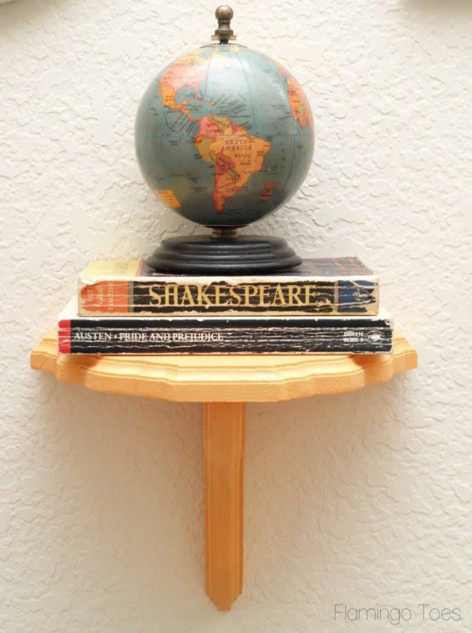 small globe shelf