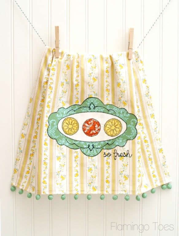 Citrus Embroidery Dishtowel DIY (2)
