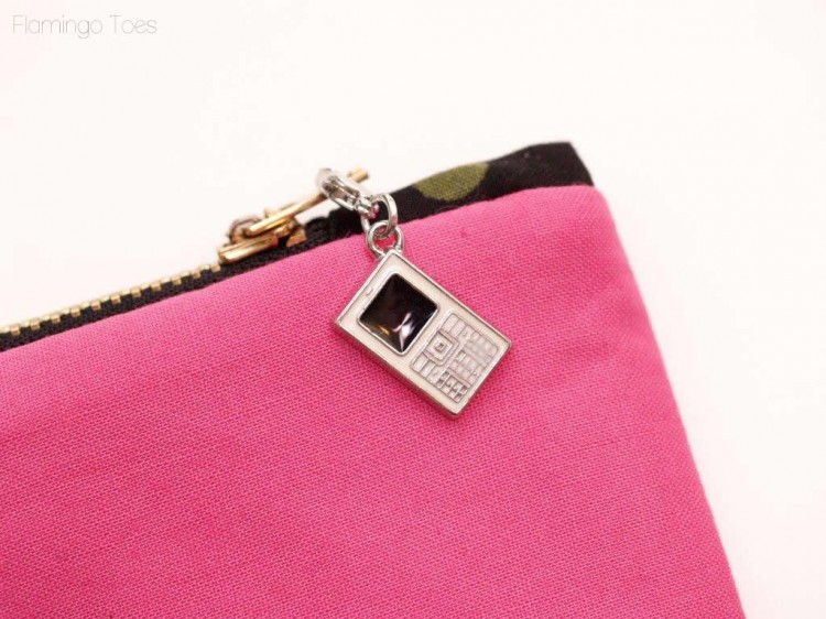 Clip on Zipper Charm