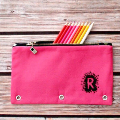 Monogram Zipper Pouch for Back to School