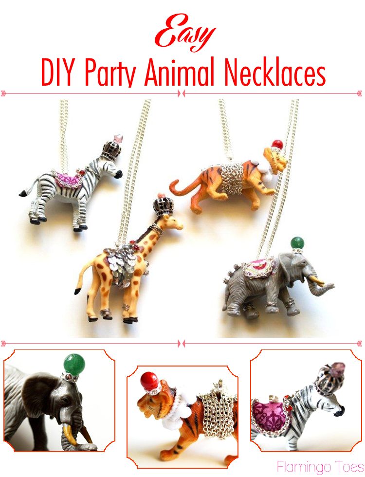 Easy DIY Party Animal Necklaces