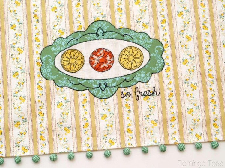 Embroidery Dishtowel Tutorial